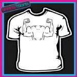 MUSCLES GYM BODY BUILDER WEIGHT LIFTER PRINTED TSHIRT
